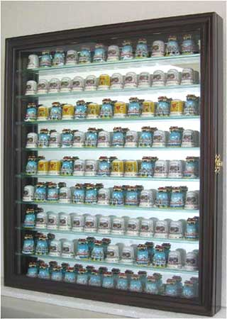 100 Thimble Display Cabinet With Mirror Back Amp Removable